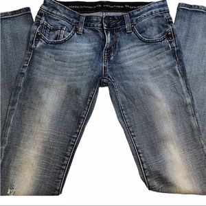 Rerock for Express Distressed Bootcut Jeans